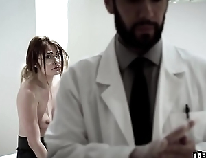 Adria Rae got her tight young pussy lubricated fingered and fuck hard by Tommy Pistols cock!
