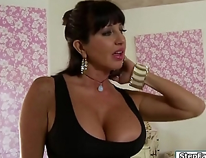 Busty stepmom flirts with her stepson