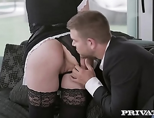 Private.com redhead maid hungry for cum