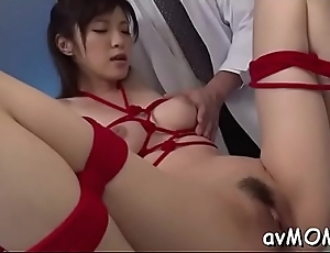 Slutty mama with hung tits gets drilled by two horny men