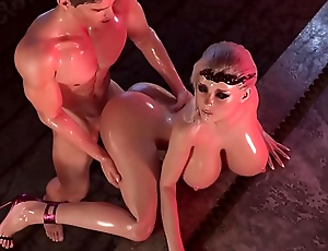 Princess Fucked in Doggy Aura in amazing free 3d porn game
