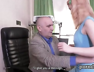 Natural schoolgirl is seduced and reamed by older lecturer