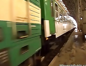 crazy real groupsex orgy in a public train