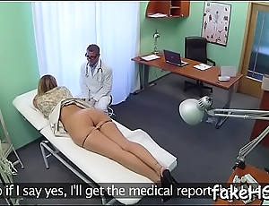 At final engrossing and hawt doctor reaches bright orgasm