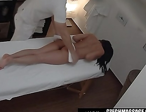 Brunette Sexy Babe Secretly Fucks on Massage Directorship