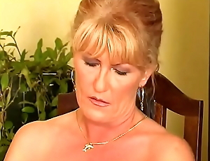 Sexy Blond Mature Playing