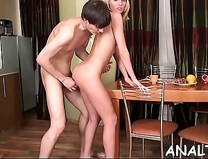 Nasty darling is driving hunk avid with wild anal riding