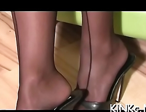 Calumnious sex lovers, enjoy hot female domination porno video