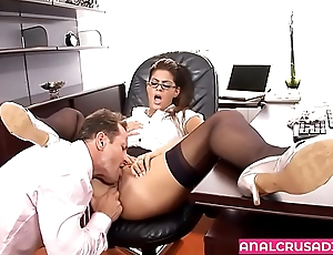 Hot Employee Butt-fucked by Her Boss