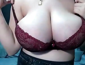 Pregnant showing astounding tits