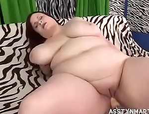 Sexy Redhead BBW Asstyn Gets Banged By Fuck Machine