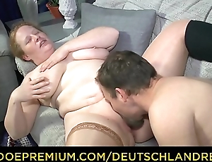 DEUTSCHLAND REPORT - Chubby German mature minx swallows full load