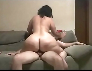 BBW Wife With Sexy Fat Ass Rancid Riding Cock