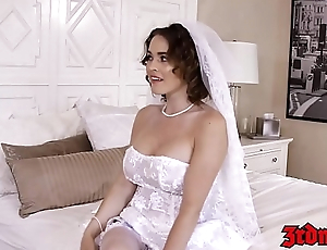 Busty bride cuckolds hubby with BBC on their bridal day