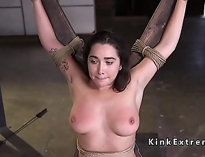 Natural hairy pussy slave rough fucked