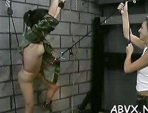 Top charm servitude porn with beauties on fire addicted to load of shit