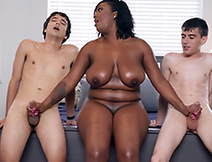 Ebony Milf Layton Benton gives a replica handjob in Jordi El Nino Polla and Ricky Spanish -2