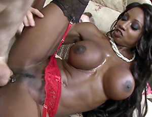 Ebony overprotect Diamond Jackson taking Danny's obese fat cock alien the rear