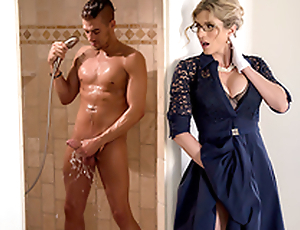 Stuck-Up Stepmom -Naked  Cory Chase In a catch porn scene