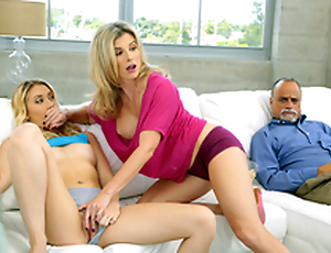 Dont Wake Him - Naked Mom Cory Chase In the porn scene