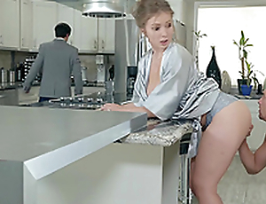 Lena Paul gets a load on her soul in the kitchen hardcore