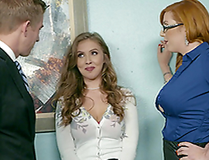 Office triumvirate is the best day at work of Lauren Phillips and Lena Paul