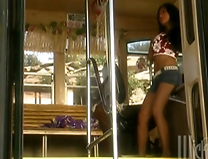 Retro Videotape Of Tourist Having Prepare Lovemaking In A Bus