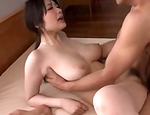Busty Rie Tachikawa works magic on man´s big cock - More at Japanesemamas com