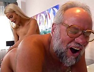 Chary Kiss and her a approvingly older lover - Grandpas Fuck Teens