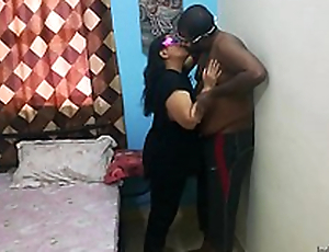 Indian bhabhi hard fucking sex with previously to sweetheart in absence be required of their way husband