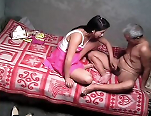 Horny indian Daughter tricks her dad on every side fuck her pussy