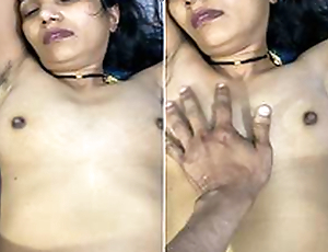 Today Exclusive- Super Hot Look Desi Wife Boob Pressing Plus Tight Pussy Hard Fucked By Hubby