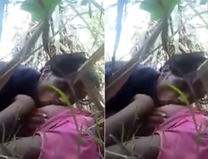Desi Village Lover Boob Sucking coupled with Outdoor Sex
