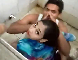 Desi boy fucking his fixture in public toilet & Caught by public