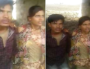 Desi Couple OutDoor Shacking up Caught By village Kids