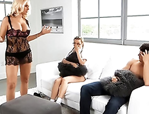 Alena Croft and Haley Mae non-appearance the same huge XXX tool and share it