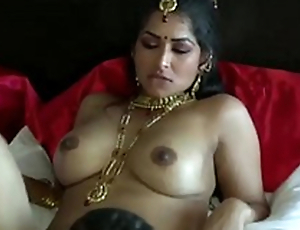 Extremely turned on dark skinned Desi clothes-horse eats wet pussy of his GF