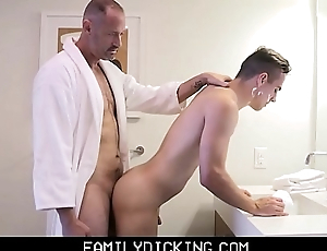 Twink Step Son Taught Regardless how To Shave Increased by Get Fucked By His Step Dad