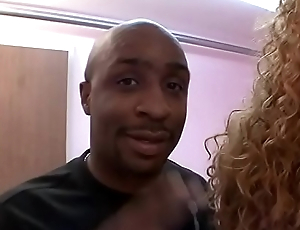 Black radiate fucks a thick ebony whore indoors then cums on her