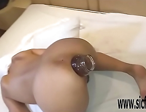 Double anal fisting Marias greedy hole