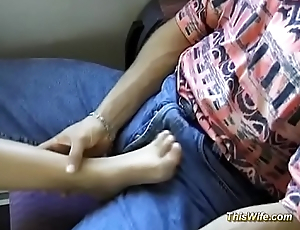 horny german couple fucking convenient the train