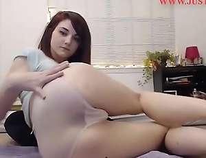 Brunette with creamy pussy masturbates - wait for more LIVE at www.justcam.site