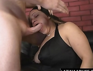 Sloppy Latina sucker throat ruined
