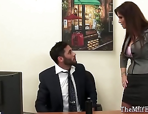 Milf Boss Fucked on The brush Office Desk