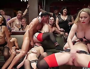 Interracial orgy bdsm anal fuck party